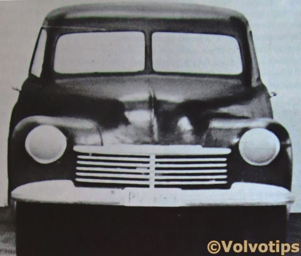 Volvo PV 444 PV444 front wooden prototype model